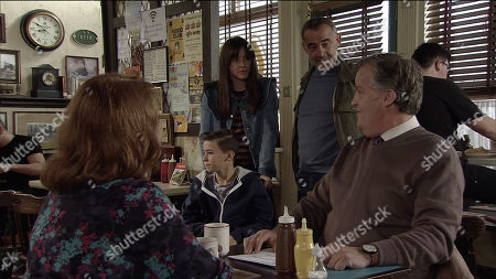 Ep 9594 Wednesday 24th October 2018 - 1st Ep Jack Webster, as played by Kyran Bowes, spots Lila, as played by Isla Nield, the girl who sat next to him at holiday club. Kevin Webster, as played by Michael Le Vell, realises Jack's smitten.