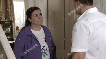 Ep 9593 Monday 22 October 2018 - 2nd Ep Mary Taylor, as played by Patti Clare, discovers the £5k cheque from Roy and tackles Jude Appleton, as played by Paddy Wallace, in private saying that she is going to tell Roy and Angie the truth. How will Jude react?