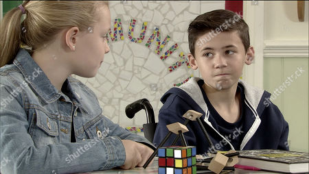 Ep 9592 Monday 22 October 2018 - 1st Ep Brian Packham is mortified when Jack Webster, as played by Kyran Bowes, is upset at being made to feel different at the after school club when Gary's mate Greg, as played by Cassidy Little, arrives.