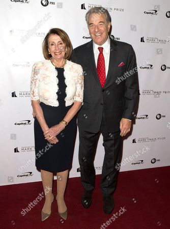 Nancy Pelosi, Paul Pelosi. Nancy Pelosi and her husband Paul Pelosi arrive at the Kennedy Center for the Performing Arts for the 21st Annual Mark Twain Prize for American Humor presented to Julia Louis-Dreyfus, in Washington, D.C