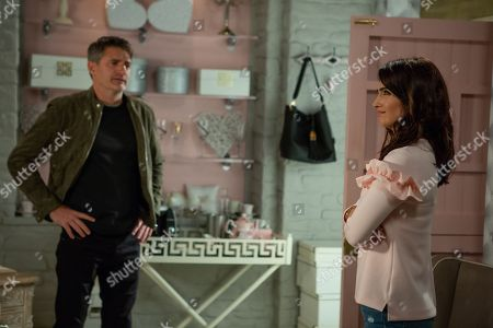Ep 8294 Wednesday 24th October 2018 At Take a Vow, Megan Macey is fuming when clients start to cancel due to Susie's scathing review about Leyla Harding, as played by Rokhsaneh Ghawam-Shahidi. Leyla laments over Clive, as played by Tom Chambers, and then gets angry at herself for believing that he loved her. When Clive suddenly appears and begs for a chance to explain things. Leyla is torn but will she forgive him?