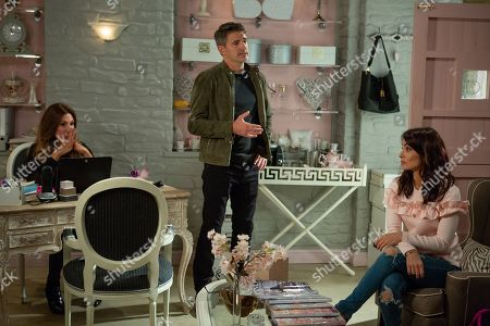 Ep 8294 Wednesday 24th October 2018 At Take a Vow, Megan Macey, as played by Gaynor Faye, is fuming when clients start to cancel due to Susie's scathing review about Leyla Harding, as played by Rokhsaneh Ghawam-Shahidi. Leyla laments over Clive, as played by Tom Chambers, and then gets angry at herself for believing that he loved her. When Clive suddenly appears and begs for a chance to explain things. Leyla is torn but will she forgive him?