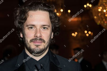 Edgar Wright poses for photographers upon arrival at the party for the film 'Stan and Ollie' showing as part of the BFI London Film Festival in London