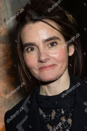 Shirley Henderson poses for photographers upon arrival at the party for the film 'Stan and Ollie' showing as part of the BFI London Film Festival in London
