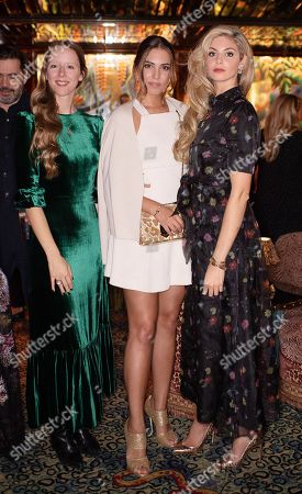 Morwenna Lytton Cobbold, Amber Le Bon and Tamsin Egerton