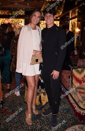 Amber Le Bon and Sam Way