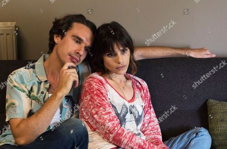 Stock Image of Paolo, as played by Edward Akrout, Harry, as played by Joseph Teague, and Juliette, as played by Charlotte Riley.