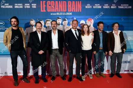 Editorial photo of 'Le Grand Bain' film premiere, Brussels, Belgium - 10 Oct 2018