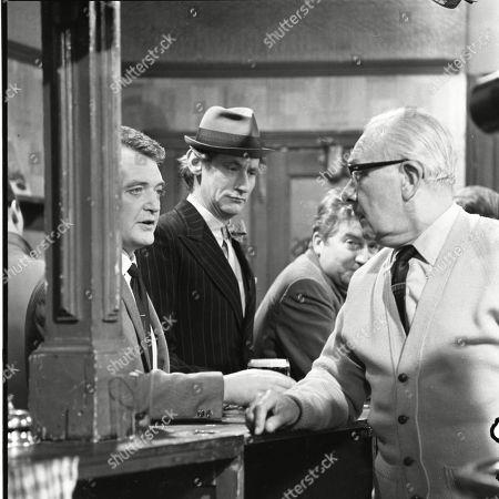Tom Watson (as Frank Turner), Gordon Rollings (as Charlie Moffitt), Peter Adamson (as Len Fairclough) and Arthur Leslie (as Jack Walker)