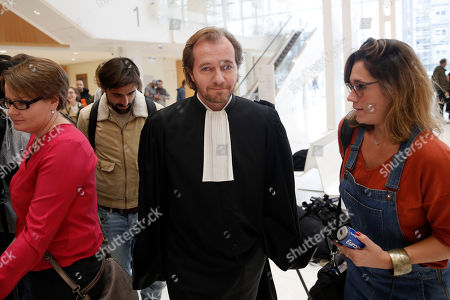 French lawyer Emmanuel Marsigny, lawyer of Swiss philosopher and professor of Contemporary Islamic Studies Tariq Ramadan, speaks to journalists at court in Paris, France, 22 October 2018. Tariq Ramadan is detained in France on alleged sexual harassment and rape charges. Today Tariq Ramadan admitted having had allegedly consenting sexual relationships with the two complainants.