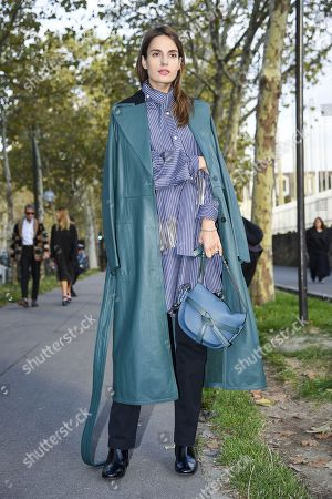 Editorial picture of Street Style, Spring Summer 2019, Paris Fashion Week, France - 28 Sep 2018