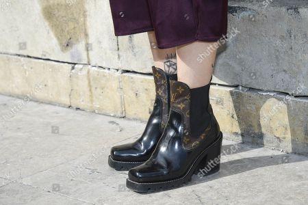 Stock Picture of Masha Sedgwick, shoe detail