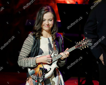 Sierra Hull performs at the 2018 Medallion Ceremony at the Country Music Hall of Fame and Museum, in Nashville, Tenn