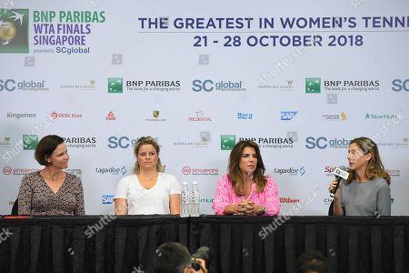 Lindsay Davenport (USA), Kim Clijsters (BEL), Monica Seles (USA), Jennifer Capriati (USA)