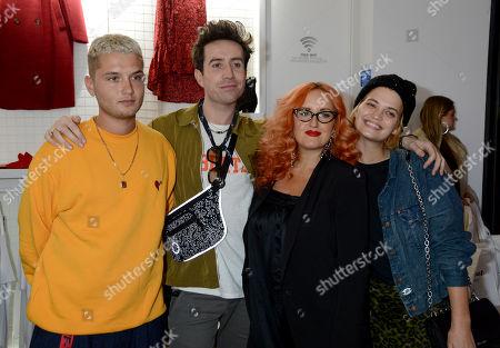 Rafferty Law, Nick Grimshaw, Aimee Phillips and Pixie Geldof
