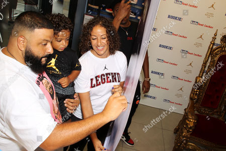 Editorial image of DJ Khaled and his son Asahd Khaled Promote the Jordan X Asahd Holiday 2018 Collection, Miami, USA - 22 Oct 2018