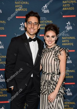 Justin Peck, Tiler Peck. Ted Arison Young artist award honoree Justin Peck, left, and ballerina Tiler Peck pose together at the 2018 National Art Awards, hosted by Americans for the Arts, at Cipriani 42nd Street, in New York