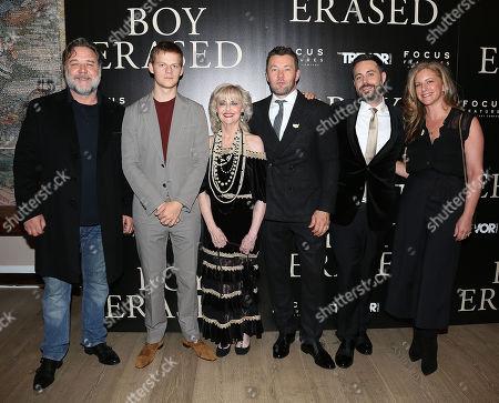Russell Crowe, Lucas Hedges, Martha Conley, Joel Edgerton (Writer, Director), Garrard Conley (Author) and Kerry Roberts (Producer)