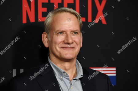 """Stock Photo of Campbell Scott, a cast member in """"House of Cards,"""" poses at the season six premiere of the Netflix political drama series, in Los Angeles"""
