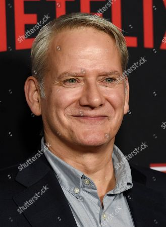 """Campbell Scott, a cast member in """"House of Cards,"""" poses at the season six premiere of the Netflix political drama series, in Los Angeles"""