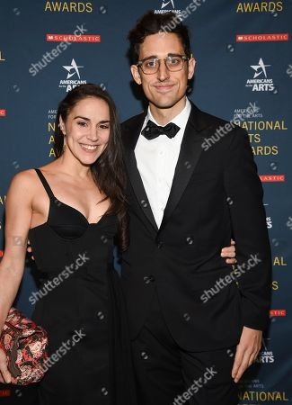 Justin Peck, Patricia Delgado. Ted Arison Young artist award honoree Justin Peck and fiancee Patricia Delgado attend the 2018 National Art Awards, hosted by Americans for the Arts, at Cipriani 42nd Street, in New York