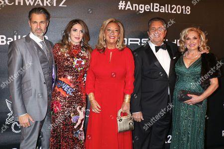 Stock Image of Richard Kilstock, Daniella Rich Kilstock, Denise Rich and guests