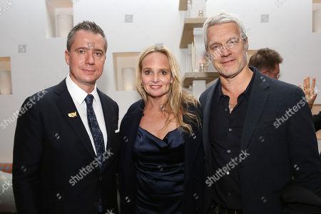 Robert Walak (Pres; Focus Features), Diana Kellogg and Neil Burger