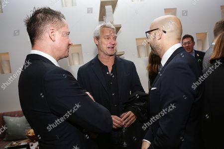 Robert Walak (Pres; Focus Features), Neil Burger and Peter Kujawski (Chairman; Focus Features)