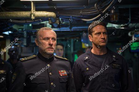 Stock Photo of Michael Nyqvist as Captain Andropov, Gerard Butler as Captain Joe Glass