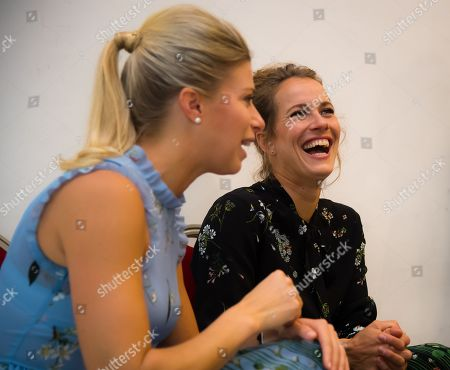 Andrea Hlavackova & Barbora Strycova of the Czech Republic during Doubles Media Day at the 2018 WTA Finals tennis tournament