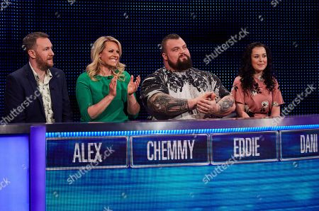 Stock Picture of Alex Horne, Chemmy Alcott, Eddie Hall and Dani Harmer