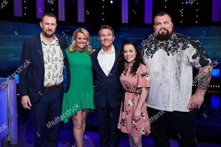 (L-R) Alex Horne, Chemmy Alcott, Bradley Walsh, Dani Harmer and Eddie Hall