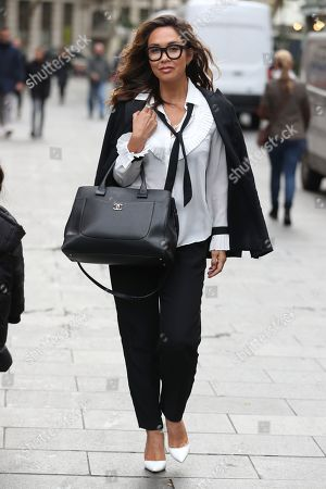 Myleene Klass out and about, London