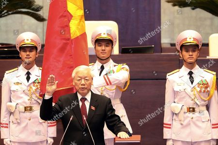 Editorial picture of Vietnam elects Nguyen Phu Trong as new President, Hanoi, Viet Nam - 23 Oct 2018