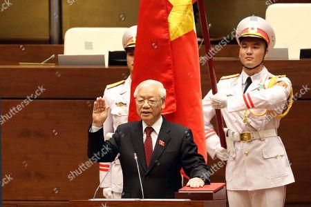 Editorial photo of Vietnam elects Nguyen Phu Trong as new President, Hanoi, Viet Nam - 23 Oct 2018
