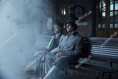 Colin Morgan as Alfred Bosie Douglas, Rupert Everett as Oscar Wilde
