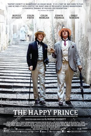 The Happy Prince (2018) Poster Art. Colin Morgan as Alfred Bosie Douglas, Rupert Everett as Oscar Wilde