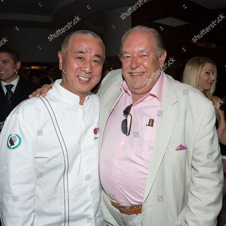 Chef Nobuyuki Matsuhisa, and Robin Leach, Nobu Hotel Grand Opening Event, Caesars Palace Las Vegas, Nevada