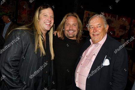 Robin Leach, Vince Neil and Michael Boychuck