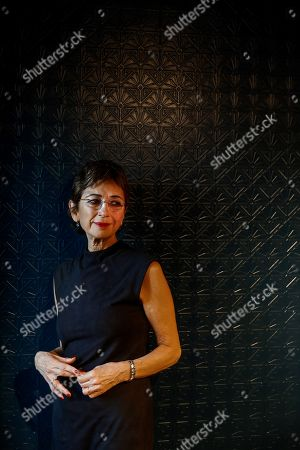 Spanish Nobel awarded writer Jose Saramago's widow Pilar del Rio poses during the presentation of the 'Cuaderno del año del Nobel' (lit: booknote of the Nobel´s year), a book never published previously by Jose Saramago, in Madrid, Spain, 23 October 2018.