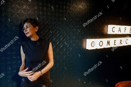 Stock Photo of Spanish Nobel awarded writer Jose Saramago's widow Pilar del Rio poses during the presentation of the 'Cuaderno del año del Nobel' (lit: booknote of the Nobel´s year), a book never published previously by Jose Saramago, in Madrid, Spain, 23 October 2018.