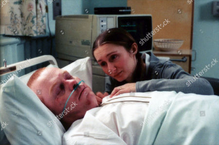 Ep 2670 Thursday 23rd March 2000 In the aftermath of the village bus crash, Emily talks to Butch about their future together - With Butch Dingle, as played by Paul Loughran ; Emily Wylie, as played by Kate McGregor.