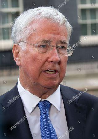 Former Defence Secretary, Michael Fallon, in Downing Street.