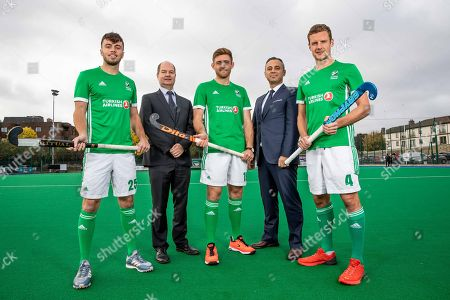 Green Machine head coach, Alexander Cox, has today announced his World Cup squad of 20 players that will travel to Bhubaneswar in India for the showpiece event. The team will be the first Irish men?s hockey team to compete at a World Cup since 1990. Speaking at the announcement, Cox said ?I am proud to announce our World Cup squad. The camps we had in Ireland and overseas were very good and allowed me to see the potential of all the players in our training panel. The 20 players selected give me the most options in defense, midfield and attack. We are very much looking forward to the upcoming tournament in Valencia which will be our first test as a team as we look towards the World Cup?. Today also marked the unveiling of Turkish Airlines as the new primary sponsor of the senior men?s team, speaking about the announcement Hockey Ireland CEO Jerome Pels said ?We are pleased to reveal Turkish Airlines as the new primary sponsor of the Green Machine. Hockey is a global sport and we?re delighted to partner with such an international brand like Turkish Airlines. They have a long history of sponsorship in sport and we?re very excited about this partnership?. Hasan Mutlu, Turkish Airlines General Manager for Ireland, commented ?We are delighted to be announcing Turkish Airlines as the sponsorship partner for Ireland?s men?s hockey team. This is a momentous day for both organisations as we cement our relationship we can clearly see the immense potential for this team on the international stage. We are delighted to support them in their every success as the men?s hockey World Cup in India comes closer into view?. Pictured today is (L-R) Daragh Walsh, Shane O'Donoghue and Jonny Bell with Hockey Ireland CEO, Jerome Pels and Hasan Mutlu, GM Turkish Airlines Ireland