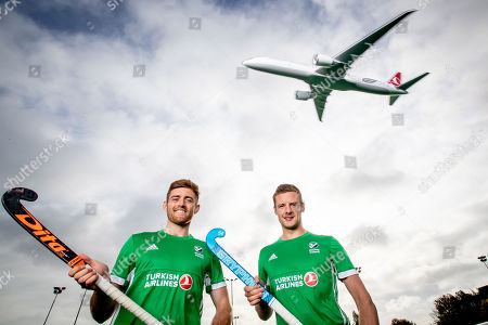 Green Machine head coach, Alexander Cox, has today announced his World Cup squad of 20 players that will travel to Bhubaneswar in India for the showpiece event. The team will be the first Irish men?s hockey team to compete at a World Cup since 1990. Speaking at the announcement, Cox said ?I am proud to announce our World Cup squad. The camps we had in Ireland and overseas were very good and allowed me to see the potential of all the players in our training panel. The 20 players selected give me the most options in defense, midfield and attack. We are very much looking forward to the upcoming tournament in Valencia which will be our first test as a team as we look towards the World Cup?. Today also marked the unveiling of Turkish Airlines as the new primary sponsor of the senior men?s team, speaking about the announcement Hockey Ireland CEO Jerome Pels said ?We are pleased to reveal Turkish Airlines as the new primary sponsor of the Green Machine. Hockey is a global sport and we?re delighted to partner with such an international brand like Turkish Airlines. They have a long history of sponsorship in sport and we?re very excited about this partnership?. Hasan Mutlu, Turkish Airlines General Manager for Ireland, commented ?We are delighted to be announcing Turkish Airlines as the sponsorship partner for Ireland?s men?s hockey team. This is a momentous day for both organisations as we cement our relationship we can clearly see the immense potential for this team on the international stage. We are delighted to support them in their every success as the men?s hockey World Cup in India comes closer into view?. Pictured today is Shane O'Donoghue and Jonny Bell