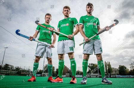 Stock Picture of Green Machine head coach, Alexander Cox, has today announced his World Cup squad of 20 players that will travel to Bhubaneswar in India for the showpiece event. The team will be the first Irish men?s hockey team to compete at a World Cup since 1990. Speaking at the announcement, Cox said ?I am proud to announce our World Cup squad. The camps we had in Ireland and overseas were very good and allowed me to see the potential of all the players in our training panel. The 20 players selected give me the most options in defense, midfield and attack. We are very much looking forward to the upcoming tournament in Valencia which will be our first test as a team as we look towards the World Cup?. Today also marked the unveiling of Turkish Airlines as the new primary sponsor of the senior men?s team, speaking about the announcement Hockey Ireland CEO Jerome Pels said ?We are pleased to reveal Turkish Airlines as the new primary sponsor of the Green Machine. Hockey is a global sport and we?re delighted to partner with such an international brand like Turkish Airlines. They have a long history of sponsorship in sport and we?re very excited about this partnership?. Hasan Mutlu, Turkish Airlines General Manager for Ireland, commented ?We are delighted to be announcing Turkish Airlines as the sponsorship partner for Ireland?s men?s hockey team. This is a momentous day for both organisations as we cement our relationship we can clearly see the immense potential for this team on the international stage. We are delighted to support them in their every success as the men?s hockey World Cup in India comes closer into view?. Pictured today is Jonny Bell, Shane O'Donoghue and Daragh Walsh
