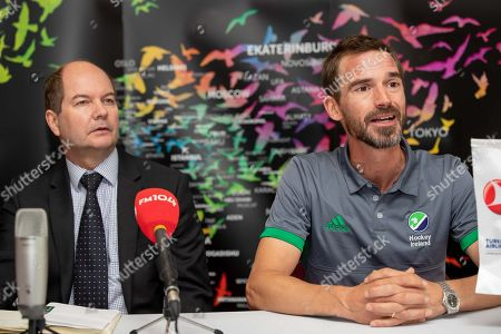 Green Machine head coach, Alexander Cox, has today announced his World Cup squad of 20 players that will travel to Bhubaneswar in India for the showpiece event. The team will be the first Irish men?s hockey team to compete at a World Cup since 1990. Speaking at the announcement, Cox said ?I am proud to announce our World Cup squad. The camps we had in Ireland and overseas were very good and allowed me to see the potential of all the players in our training panel. The 20 players selected give me the most options in defense, midfield and attack. We are very much looking forward to the upcoming tournament in Valencia which will be our first test as a team as we look towards the World Cup?. Today also marked the unveiling of Turkish Airlines as the new primary sponsor of the senior men?s team, speaking about the announcement Hockey Ireland CEO Jerome Pels said ?We are pleased to reveal Turkish Airlines as the new primary sponsor of the Green Machine. Hockey is a global sport and we?re delighted to partner with such an international brand like Turkish Airlines. They have a long history of sponsorship in sport and we?re very excited about this partnership?. Hasan Mutlu, Turkish Airlines General Manager for Ireland, commented ?We are delighted to be announcing Turkish Airlines as the sponsorship partner for Ireland?s men?s hockey team. This is a momentous day for both organisations as we cement our relationship we can clearly see the immense potential for this team on the international stage. We are delighted to support them in their every success as the men?s hockey World Cup in India comes closer into view?. Pictured today is Hockey Ireland CEO, Jerome Pels and coach Alexander Cox