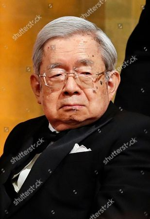 Stock Picture of Japanese Masahito, Prince Hitachi attends the 30th Praemium Imperiale Awards Ceremony in Tokyo, Japan, 23 October 2018. The Praemium Imperiale is a global arts prize awarded annually by the Japan Art Association. Five laureates are nominated in the fields of Painting, Sculpture, Architecture, Music and Theater/Film.