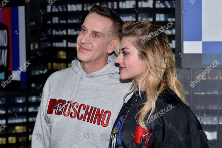 Stock Photo of Jeremy Scott and Frances Bean Cobain