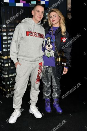 Jeremy Scott and Frances Bean Cobain